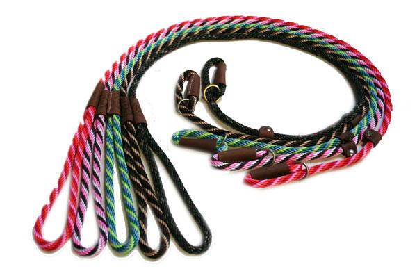 犬の首輪 プロ・トレーナーも愛用の米MENDOTA製 リード・首輪一体型 ブリティッシュスタイル スリップリード1cm幅 120cmタイプ