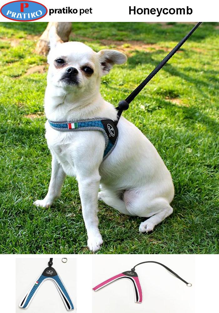 PRATIKO・プラティコ レースハニカムハーネス 超小型、小型犬用(シュナウザー、ジャックラッセルテリア) サイズ2.5