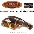 USA製【AUBURN】《丸革コンビネーションチョークカラー》サイズ24 大型犬用ブライドル(馬具)レザー