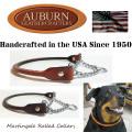 USA製【AUBURN】《丸革チェーン・ハーフチョークカラー》サイズ16 中型犬用 丸革ブライドル(馬具)レザー