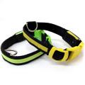 犬用充電器付きLED首輪【電池の交換必要なし】夜のお散歩も安心>