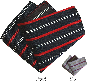 SALE ポケットチーフ ストライプ レジメンタル シルク 日本製