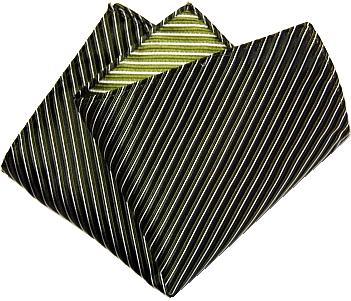 ポケットチーフ 縦ストライプ シルク 日本製