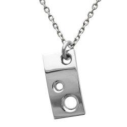 シンプルなメンズネックレス、穴が開いたデザイン