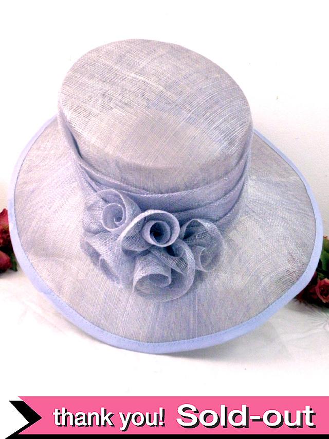 <英国ビンテージHAT>優雅な淡い紫色のお花♪ヴィクトリアン貴婦人のようなお帽子