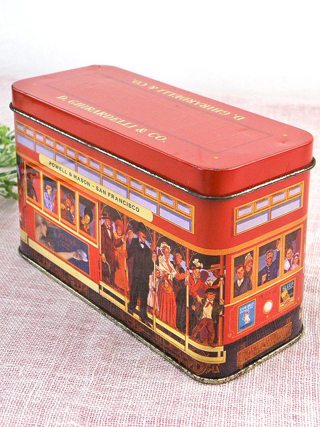 <D.GHIRARDELLI & CO.>サンフランシスコの路面電車のTIN缶