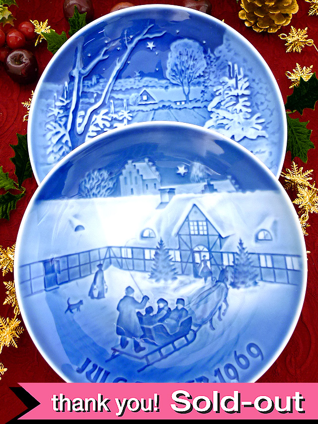 <英国流クリスマス>「ビングオーグレンダール」上品なブルー&ホワイトのクリスマス・プレート