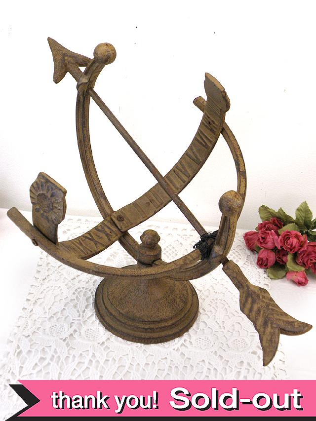 1910年代:とても珍しい英国のアイアンで作られた日時計