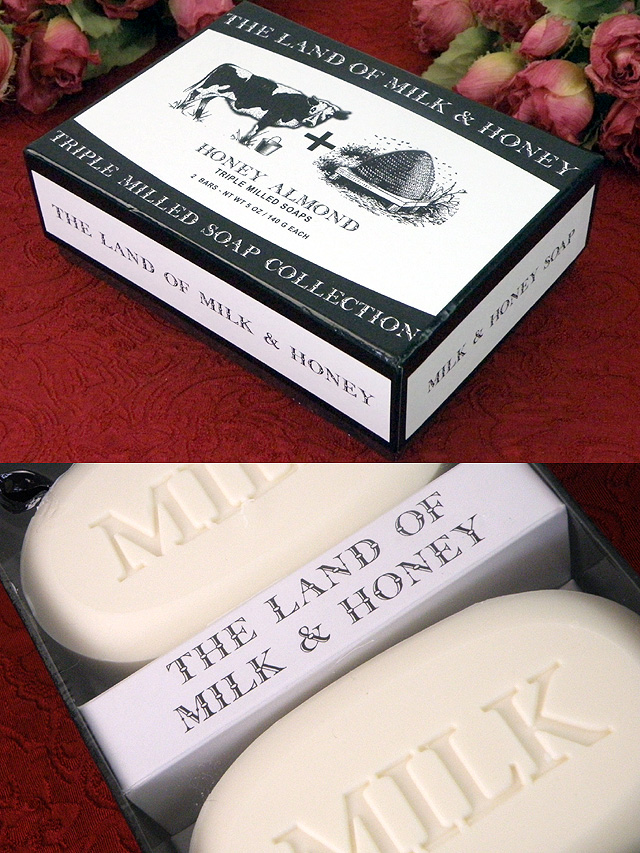 「THE LAND OF MILK & HONEY」♪ミルクとハチミツの大きな石鹸「2個入り」