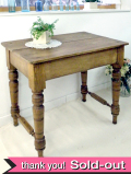 <英国アンティークパイン家具>1930年代:無垢のアンティークパインで作られたいいお味になったテーブル