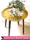 1950年代:素晴らしい真鍮細工♪英国ミッドセンチュリーのラウンドテーブル