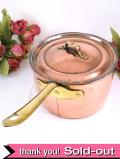 1930年代:レア♪英国アンティークの銅のふた付き片手パン
