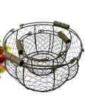 1930年代:とても珍しい大小2つのワイヤーフレームのバスケット「2個セット」