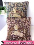 森の中のユニコーン♪美しいゴブラン織りのクッション