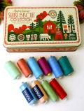 <英国ビンテージ>英国の愛らしいTIN缶に入ったソーイングツールの糸「10色」