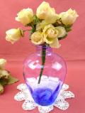 1930年代:透明な青ガラスのグラデーションが美しい優雅なフラワーベース