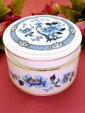 <SADLER>青いお花たち♪金彩も美しい大きなポーセリンBOX