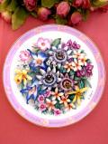 <Bouquets of the World:限定品>「Flowers of Brazil」♪世界のブーケシリーズのブラジルの絵皿「証明書付」