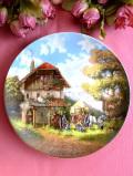 <ドイツ製:Seltmann Weiden:限定品>「ゼルトマン・ワイデン」おだやかなカントリーサイドのコテージと馬の風景の絵皿
