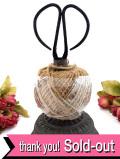 <英国アンティーク農具:デッドストック>とても珍しいアイアンのストリングホルダー麻ひもとはさみ