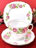 <ROYAL VALE>華やかな英国のバラたち♪金彩も優雅な満開のバラのトリオ
