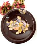 1930年代:エナメルペイントの華やかなお花♪珍しい陶器のとても大きなコンポート