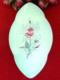 1950年代:ロマンチックな薔薇のお花♪金彩もきれいな優雅なフォルムのプレート