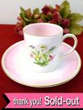 <スージー・クーパー>1958年:優しいイングリッシュガーデンのお花たち♪「ロマンス」のカップ&ソーサー