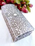 <英国銀器>1950年代:立体的な銀細工♪豪華で大きなシルバープレートの宝石箱