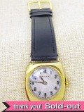 【365日保証付】<ROLEX>1920年代:とても貴重な女性用ロレックスのアンティークの9金の腕時計 「OH済」