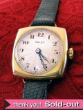 【365日保証付】<ROLEX>1924年:貴重で珍しい女性用アンティークロレックスの9金無垢の腕時計