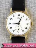【365日保証付】<スミスの時計>1960年代:9金無垢の15石の腕時計「SMITHS DELUXE」