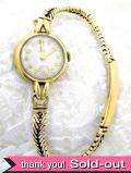 【365日保証付】<ROLEX>1930年代:とても貴重で珍しいロレックスチュードルブランドの9金無垢のブレスレッド腕時計「小バラ」