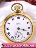 【30日保証付】<スミスの時計>1960年代:SMITHSの金色の懐中時計