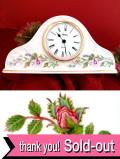 <エインズレイ>「WILD TUDOR♪満開のお花たちが素晴らしい大きな陶器の置時計