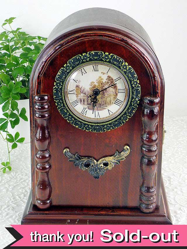 1950年代:オークが美しい収納が付いた優雅で大きな置時計