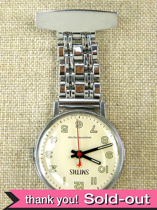 【365日保証付】<スミスの時計>1960年代:とても貴重なSMITHSのナースウォッチ「OH済」