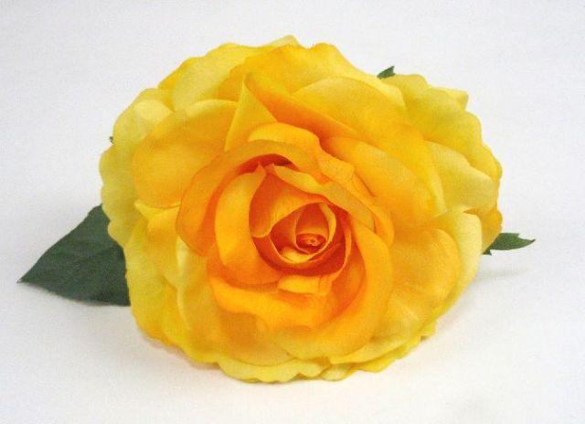 フラメンコ用・花・造花・黄色・直径14cm