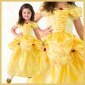 【送料無料】コスチューム★ハロウィン/S/M/L/XL★Satin Princess 11026 Satin Yellow Beauty なりきりベル! 美女と野獣 ベルみたいなプリンセスドレス YELLOW