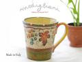 140404Modigliani モディリアーニイタリア製陶器TERREDI CHIANTIぶどう柄マグカップ TDC5