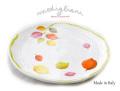 140503Modiglianiモディリアーニイタリア製陶器UMBRIAVERDE木の葉柄プレート UM1P