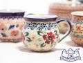 141102【ザクワディ ボレスワヴィエツ】ポーランド食器 ポーリッシュポタリーのマグカップ 赤い花柄