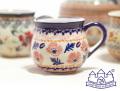 141103【ザクワディ ボレスワヴィエツ】ポーランド食器 ポーリッシュポタリーのマグカップ ピンクのお花柄