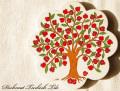 141107Artnicea トルコタイル花型鍋敷き NEW ザクロの木
