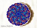 141110Artnicea トルコタイル花型鍋敷き カーネーション&小花 オリエンタルブルー