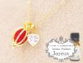 150707アロマペンダントネックレス 『Joyeux ジョワイユ』 クラシックハート アロマボール3個付き