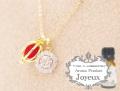 150708アロマペンダントネックレス 『Joyeux ジョワイユ』 ダズリンラウンド アロマボール3個付き