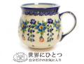 151103ポーリッシュポタリー マグカップ ポーランド陶器 KALICH カリヒ 可憐なお花柄マグ