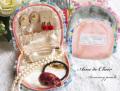 160904アクセサリーポーチ ジュエリーポーチ トラベルポーチ Ami de Clair アミドゥクレール ピンク