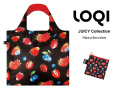 161009エコバッグ LOQIローキー ブランド 折り畳み 大きいサイズ 苺柄 JUICY Collection Strawberries